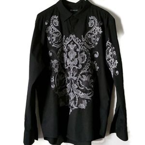 INC Black Shirt XL with Embroidery